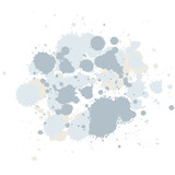 abstract composition of brush blots poster