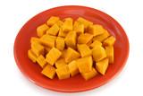 vegetarian plate - pumpkin bites poster