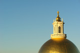 morning sun on golden dome poster