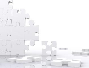 puzzle in pieces