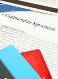 credit card agreement poster