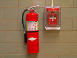 fire extinguisher and alarm 2 poster