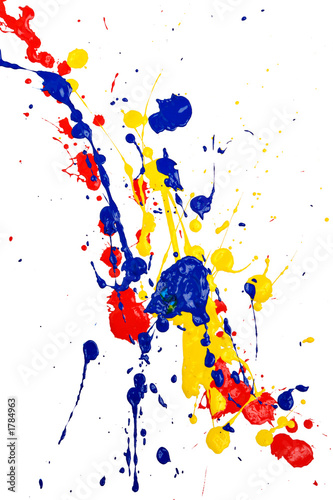 Leinwanddruck Bild splash paint