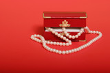 pearl necklace gift poster