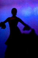 flamenko dancer silhoete