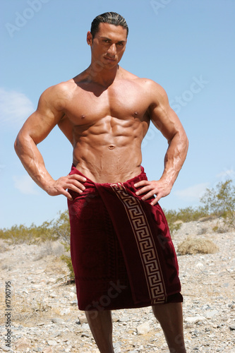 sexy man in towel