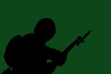army solider silhouette poster