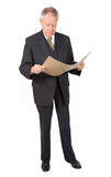 business man reading a report poster