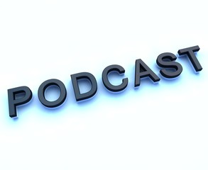 podcast 3d sign