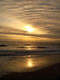 quiet beach sunset poster