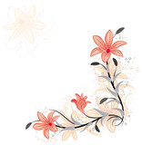 floral element for design with lily