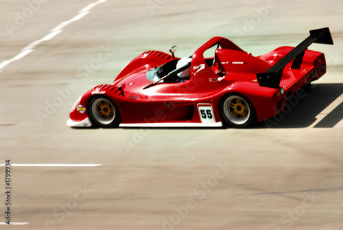 Foto op Canvas Snelle auto s red racing car