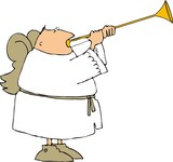 angel trumpeter poster