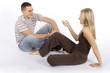 woman and man conversaton