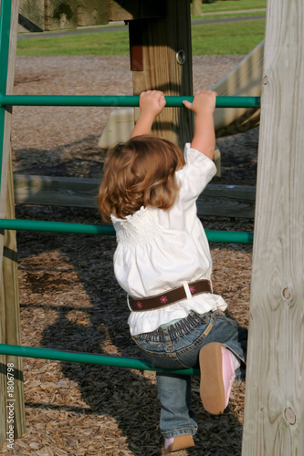 little girl climbing 2