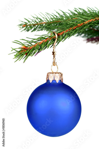 christmas decoration hanging on a tree