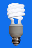 compact fluorescent bulb poster
