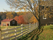 fall farm fence