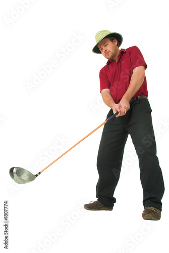 man playing golf #1
