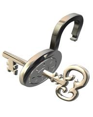 schloss mit schlüssel