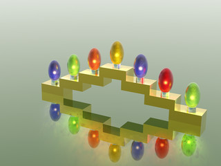 menorah. 3d. garland