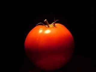tomato in black