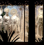 wintery window display poster