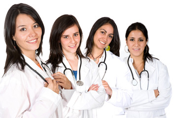 medical team with females only