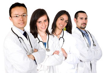 medical team with male and female doctors