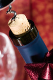 wine bottle cork almost out poster