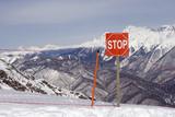 high mountains warning poster