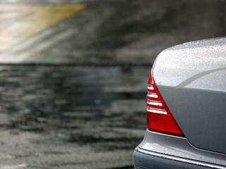 silver car in rain 01