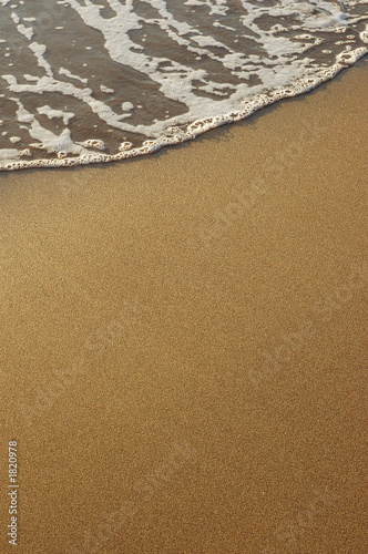 poster of sand and sea foam