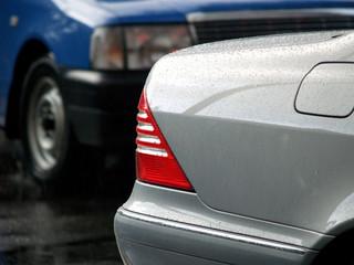 silver car in rain 04