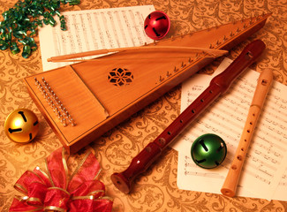 christmas psaltery with recorders