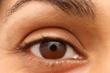 eye of an indian woman