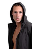 hooded man poster