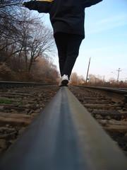 balancing on tracks