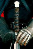 sword & gloves poster