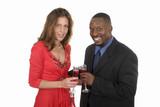 romantic couple celebrating with wine 9 poster