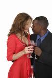 romantic couple celebrating with wine 12 poster