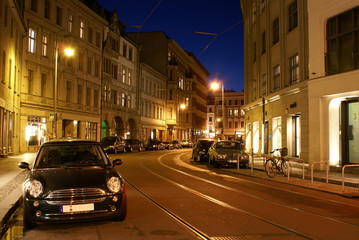 old berlin at night