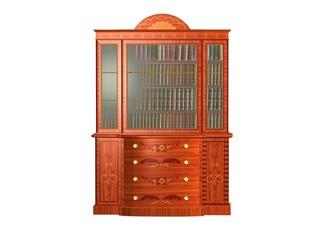 meuble vitrine en bois bibliothèque