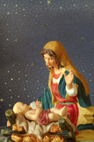 jesus and mother mary poster