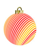 striped christmas ornament poster