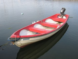 rowboat with a motor