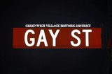 gay street sign by night, new york city poster