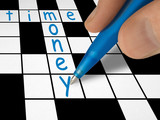 crossword - time and money poster