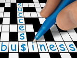 crossword - business and success poster