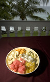 fruit salad at resort poster